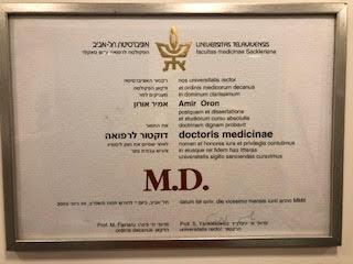 חוות דעת רפואית - ד״ר אמיר אורון אורתופד ומנתח כף יד